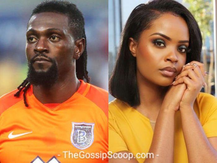 Adebayor dumps Namibian girlfriend, Dilish Mathews