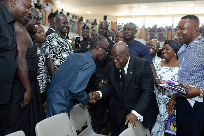 PHOTO Of The Day: What Was General Mosquito Whispering Into President Nana Addo's Ears?