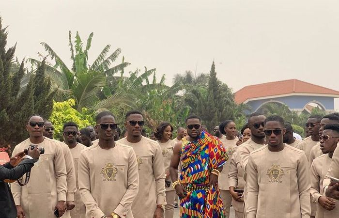 VIDEOS: Osei Kwame Despite's Son, Kennedy & Groomsmen Arrive At His Traditional Marriage Ceremony In Grand Style - Check Out The Fleet Of Cars