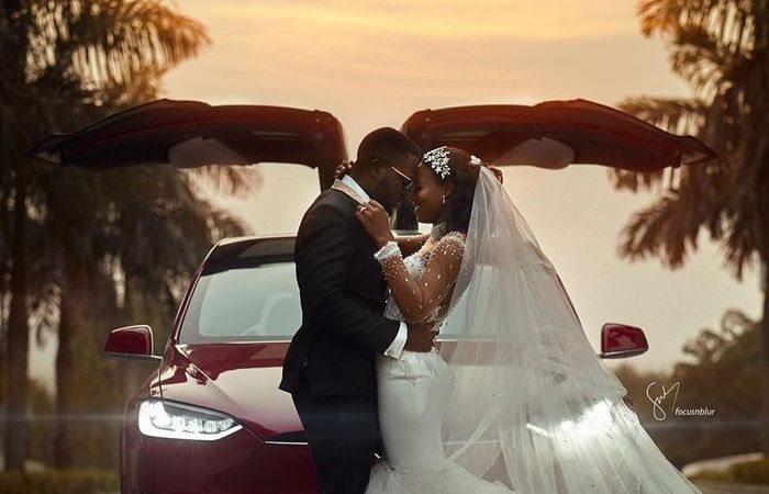 New Set Of Professionally Captured Photos From Kennedy & Tracy's White Wedding Drop