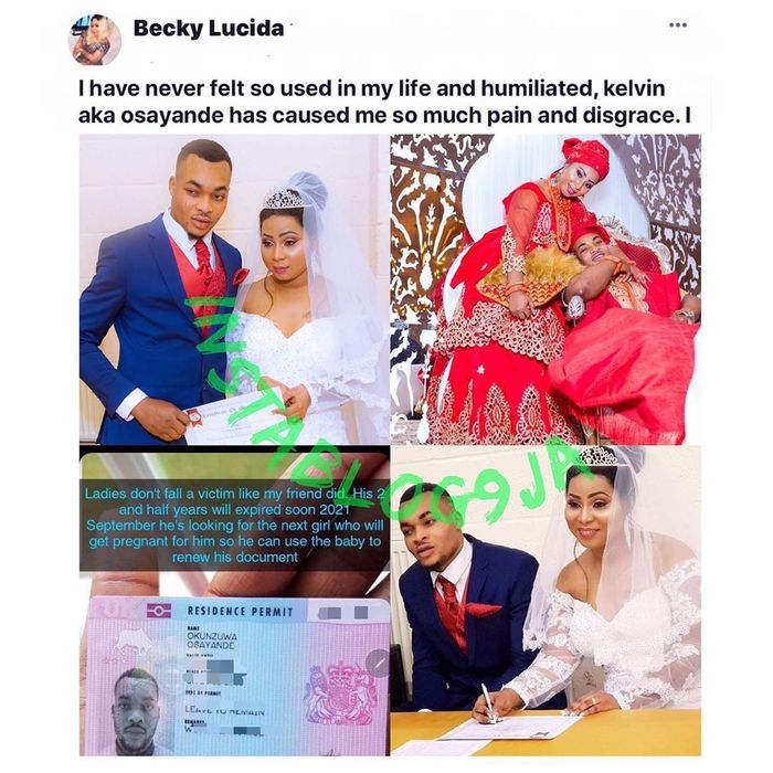 Brokenhearted Woman Exposes Nigerian Man Who Faked Love & Used Her To Renew His Papers In The UK