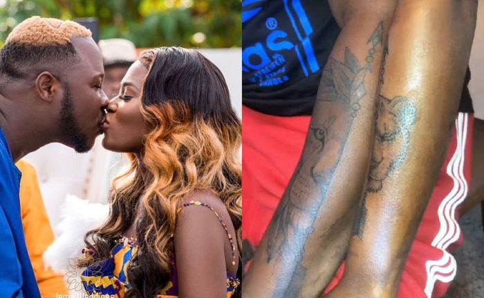 Medikal And Fella Makafui Seal Their Love With Matching Tattoos - Lion & Lioness