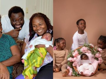 Mercy Johnson And Husband Finally Show Off Their Adorable Baby's Face
