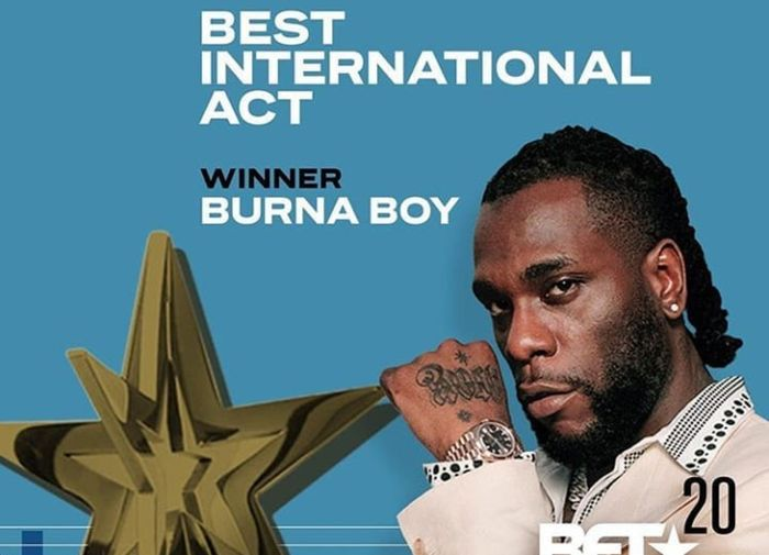 Burna Boy Is 2020 BET Awards Best International Act - Full List Of Winners