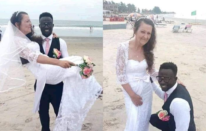 Young Ghanaian Man Marries A White Woman Older Enough To Be His Great Grandmother