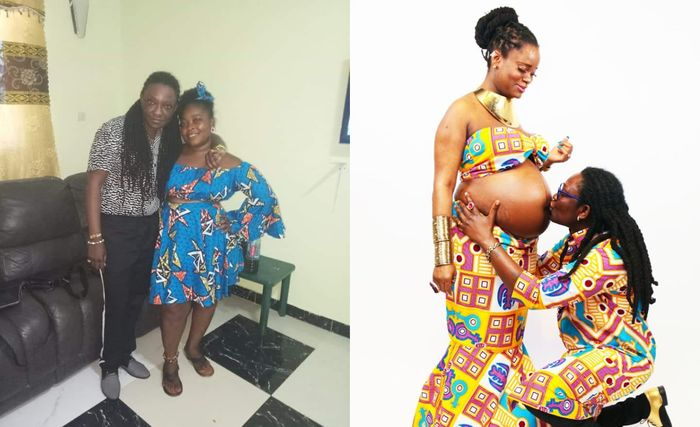 Popular Ghanaian UK-based Lesbian, Dorcas, Flaunts Second Wife After Impregnating First Wife, Linda