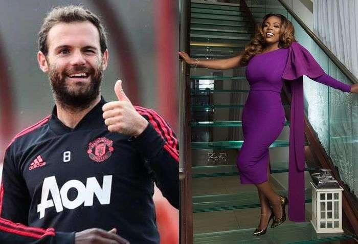 Manchester United's Juan Mata Wishes Nana Aba Anamoah On Her 42nd Birthday
