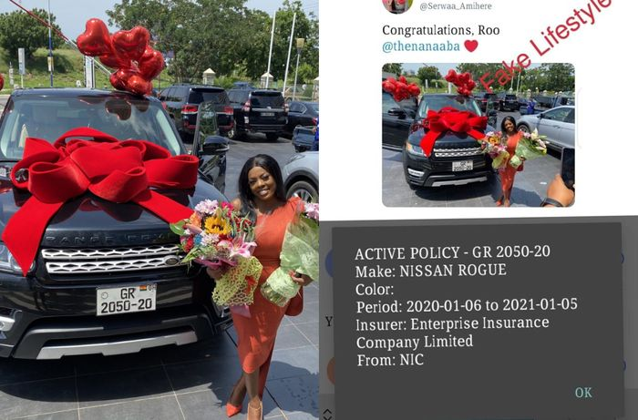 Shocking As Nana Aba Anamoah's Range Rover Birthday Gift Bears The Registration Number Of A Nissan Rogue