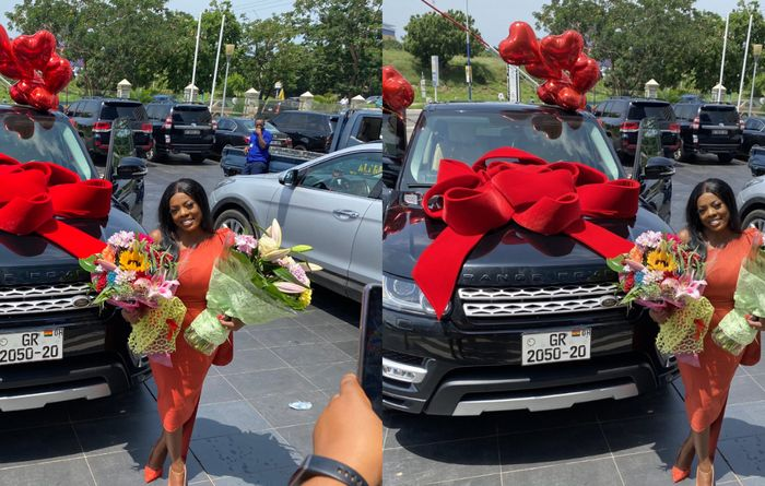 Nana Aba Anamoah Gets A Brand New Range Rover As Her 42nd Birthday Present