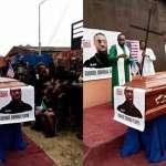 PHOTOS: Nigerian Pastor Reburies George Floyd In Nigeria