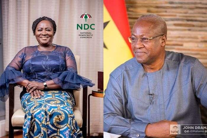 John Dramani Mahama Confirms Professor Naana Jane Opoku-Agyemang As Her Running Mate For The December 2020 Election