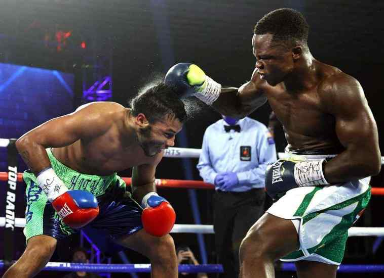 VIDEO: Isaac Dogboe Knocks Out American Boxer, Chris Avalos, To Win First-ever Fight In Featherweight Division