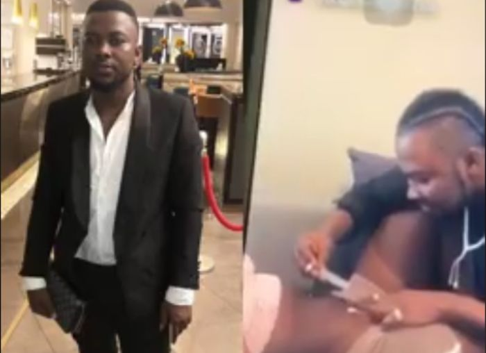A Video Of Young Ghanaian UK-based Man Sniffing Coke On The Tummy Of Young Lady Goes Viral