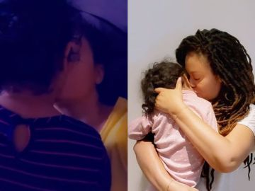 VIDEO: Nadia Buari Kisses Her Daughter On The Lips