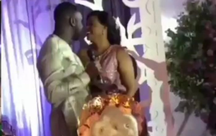 VIDEO: Joe Mettle And Wife, Selasie, Share Passionate Kiss To Seal Their Love