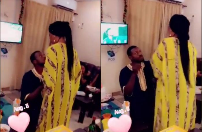VIDEO: Awkward Moment Nigerian Lady Was Forced To Accept Proposal Ring From Longtime Boyfriend