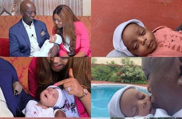 PHOTOS: Regina Daniels And Ned Nwoko Finally Show Their Son, Munir's Face
