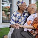 PHOTOS: Old Black Gay Couple Aging Together Share Passionate Kiss To Celebrate Their Love