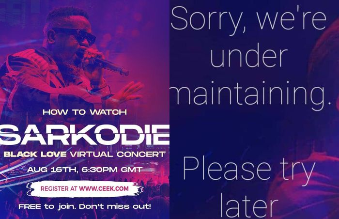 "Sarkodie's ""Black Love"" Virtual Concert In Limbo As The Website Hosting It Temporarily Shuts Down"