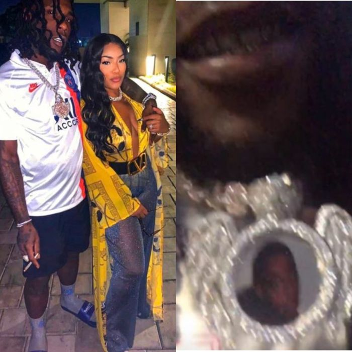 Stefflon Don Gifts Her Boyfriend, Burna Boy A $100m Chain, See His Reaction