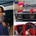 Rev Obofuor Buys A Brand New G-Wagon For His Wife On Their 10th Marriage Anniversary.