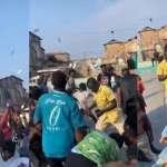 VIDEO: Money No Be Problem! Medikal Sprays Bundles Of Cash On Fans During A Music Video Shoot
