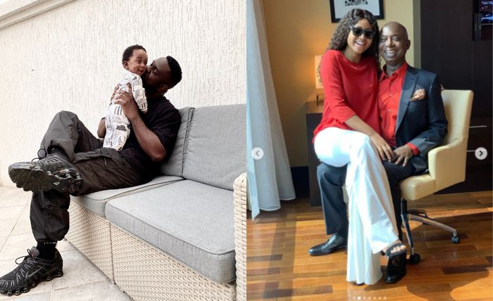 A Fan Claims Sarkodie's Newborn Son Looks Like Regina Daniels' Grandfather Husband, Ned Nwoko