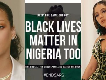 #EndSARS: Beyonce, Rihanna, Nicki Minaj, Hilary Clinton And Others React To Police Brutality In Nigeria