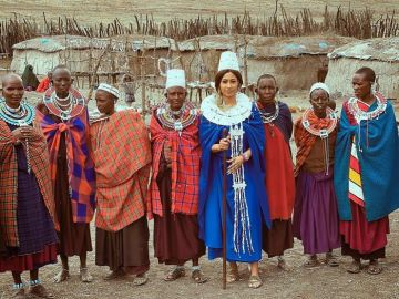 PHOTOS: Hajia4Reall Says She's Been Crowned As Princess Of The Massai Village In Tanzania