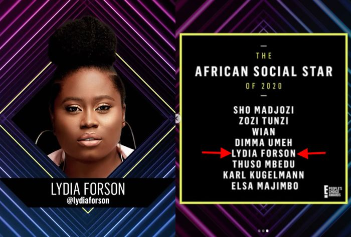 Lydia Forson Nominated For E! Peoples Award 2020