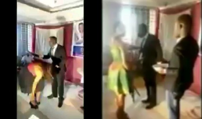 VIDEO: Ghanaian Pastor Shaves Pxxies Of Church Members As Part Of A Cleansing Process