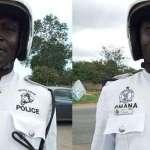 Ghanaian Police Officer Sgt. Ibrahim Yakubu Receives Praises For His Good Works