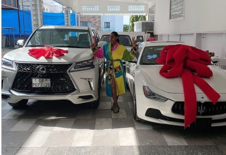 VIDEO: Afriyie Acquah's Ex-wife, Amanda, Gets Brand New Lexus and Maserati Cars From Her 'Papano'