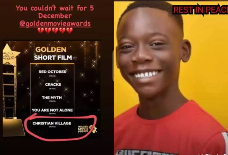 Tears Flow As A 13-year-old Ghanaian Movie Star Dies After Being Nominated At Golden Movie Awards