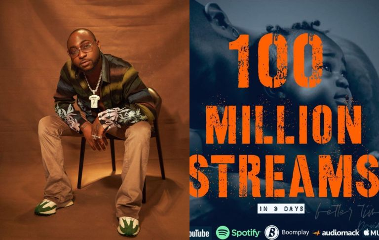 "Davido Is All Over The Moon As His ""A Better Time"" Album Hits 100 Streams In 3 Days"