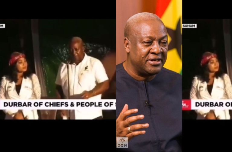 VIDEO: John Mahama Angrily Sacks NDC Man From His Campaign Rally For Blowing A Vuvuzela