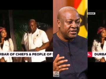 VIDEO: John Mahama Angrily Sacks NDC Man From His Campaign Rally For Blowing A Vuvuzela