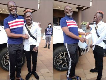 VIDEO: Controversial Shatta Wale Meets Loudmouthed Kennedy Agyapong And Kneels Before Him