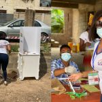 2020 Elections: Serwaa Amihere Flaunts Her Curves At The Polling Station While She Casts Her Vote - PHOTOS