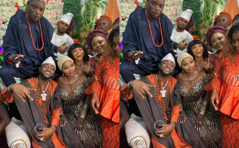 VIDEOS: Davido Serves As Best Man At His Driver's Wedding And Thrills Guests With A Performance