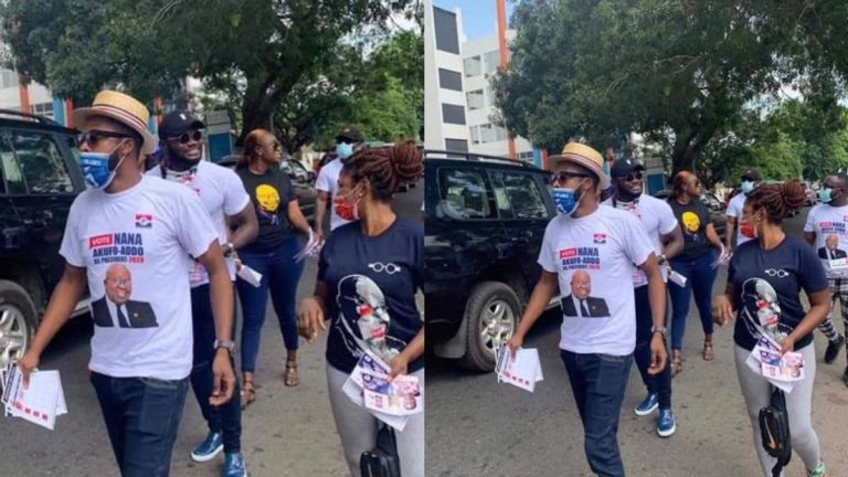 Prince David Osei, Kalybos, Bibi Bright And Others Campaign Against John Dumelo At Ayawaso West Constituency