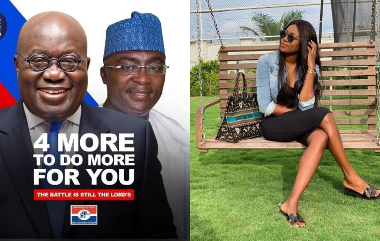 Yvonne Nelson Subtly Says President Akufo-Addo And NPP Are Chopping Ghana's Money Stylishly