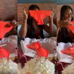VIDEO: Whilst Nana Aba And Hajia4Reall Got Range Rovers As Birthday Gift, Salma Mumin Got A Tiny Piece Of Lingerie On Her Birthday