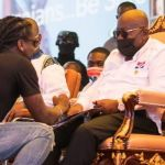 VIDEO: The Awkward Moment Macho Men Hit Samini's Hand For Attempting To Touch President Akufo-Addo