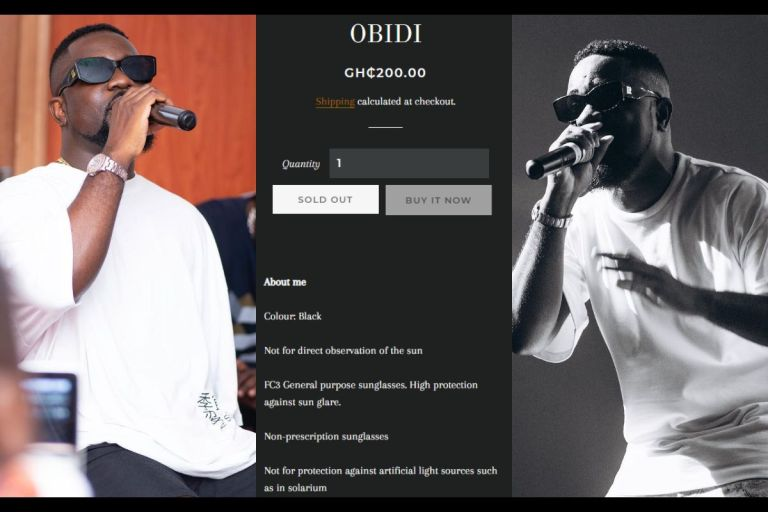 PHOTOS: Sarkodie, After Failing With Sark Collection, Launches Obidi Sunglasses Selling At Ghc200