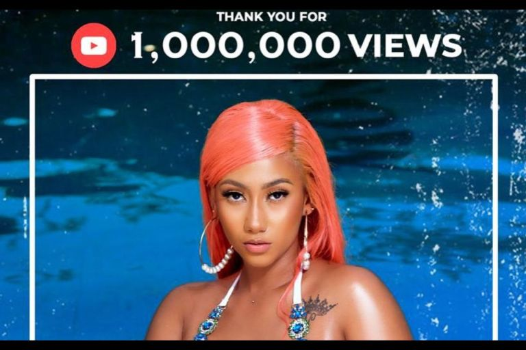 """With A Few Dollar Bills, Hajia4Reall's """"Badder Than"""" Song Hits 1 Million Streams On YouTube"""