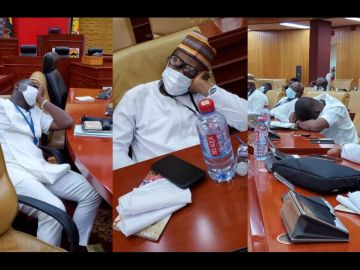 PHOTOS: NPP MPs Caught On Camera Sleeping In Parliament After Reporting At 4 AM To Occupy The Majority Side