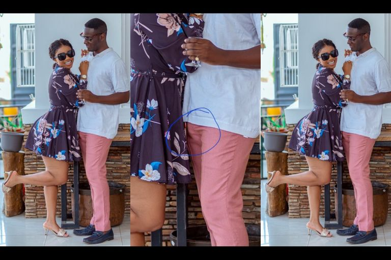 PHOTOS: Handsome Man In A Couple Pose With Serwaa Amihere Roots - All Thanks To Zoom Nation