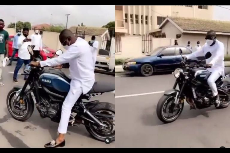 Watch The Moment Dr Osei Kwame Despite Dumped His Expensive Cars And Drove An Okada To His 58th Birthday Party