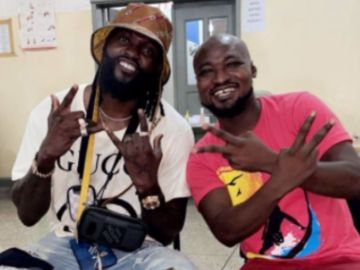 VIDEO: Adebayor Visits Funny Face At The Accra Psychiatrist Hospital